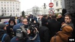 Nga protestat e gazetarëve në Poloni...
