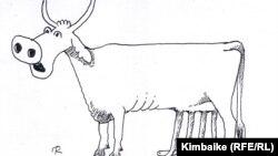 """Иллюстрация. """"Дойная корова"""""""