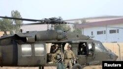 Aмерикански војници во воена база во близина на Мосул, 18 октомври 2016 година