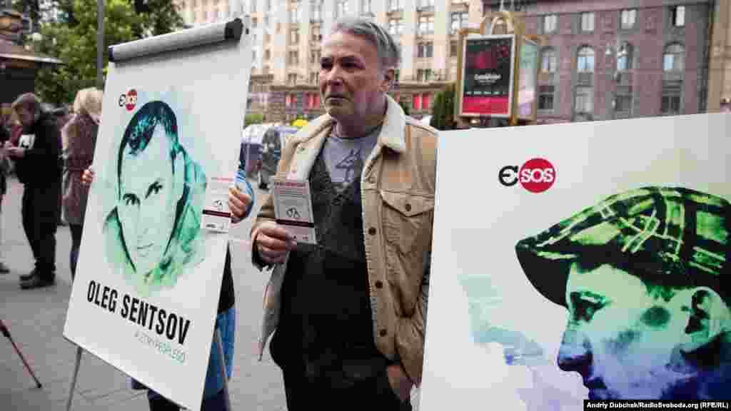На акції також був поет, сатирик Андрій Орлов (Орлуша)