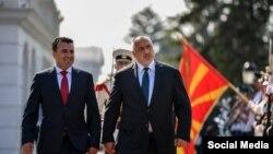 Премиерът на Северна Македония Зоран Заев и премиерът на България Бойко Борисов