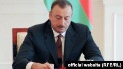 Ilham Aliyev sign