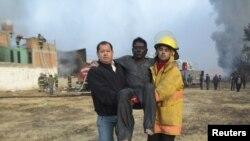 Взрыв нефтепровода в Тексмелукане