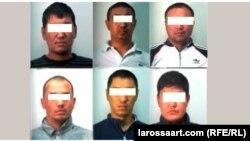 Задержанные в Дубае кыргызстанцы.