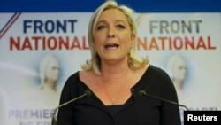 """Лидер """"Национального фронта"""" Франции Марин Ле Пен"""