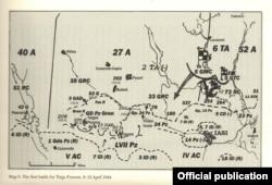 Dispozitivul trupelor la Tg. Frumos (Cf. David M. Glantz, Red Storm over the Balkans. The Failed Soviet Invasion of Romania, Spring 1944, University Press of Kansas, 2007, p. 64, 216).