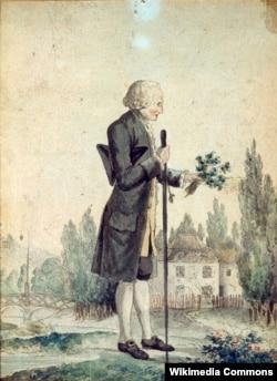 Руссо. Акварель Георга-Фридриха Майера.1778.