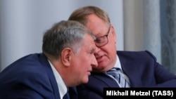 Игорь Сечин (Роснефть) и Андрей Костин (ВТБ)