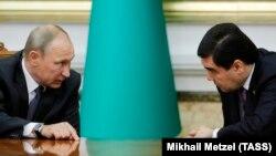 Orsýetiň prezidenti Wladimir Putin Türkmenistanyň prezidenti Gurbanguly Berdimuhamedow bilen 2017-nji ýylyň 2-nji oktýabr güni Aşgabatda duşuşýar. Arhiwden alnan surat