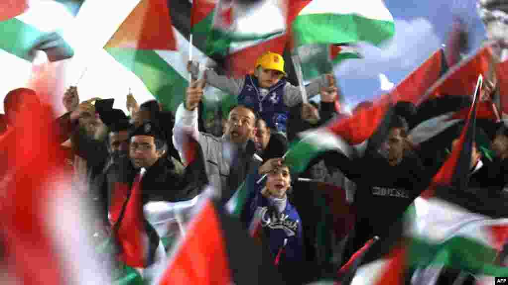 Ramallah, 29. novembar 2012. Foto: AFP / Abbas Momani