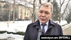 Armeina - Leonid Kalashnikov, a senior member of the Russian State Duma, speaks to RFERL in Yerevan. 3March, 2017.