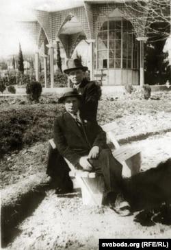 Янка Купала і Якуб Колас у Цхалтуба (1939 год)