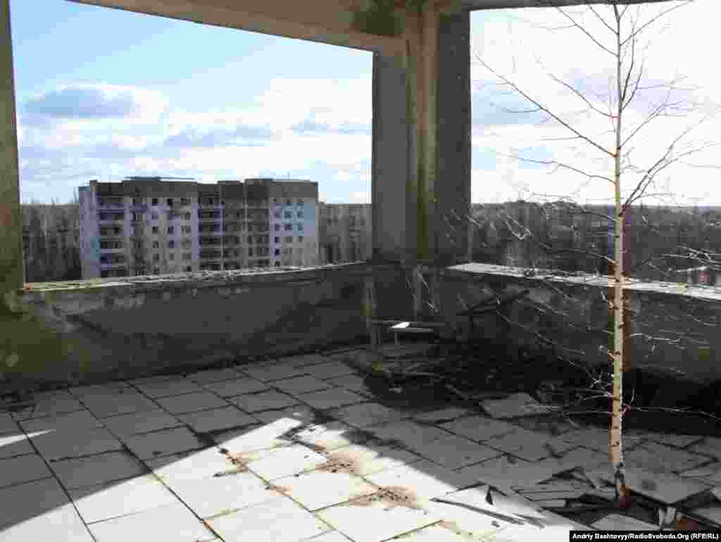Ukraine -- City of Pripyat near Chornobyl nuclear power plant