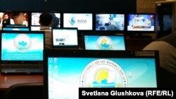 В пресс-центре ЦИК в Астане.