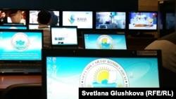 В пресс-центре ЦИК Казахстана.