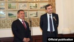 Рөстәм Миңнеханов белән Владислав Сурков