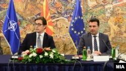 Presidenti i Maqedonisë së Veriut Stevo Pendarovski dhe kryeministri Zoran Zaev.