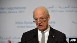UN Syria envoy Staffan de Mistura (file photo)
