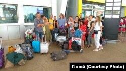 Беларускія турысты ў індыйскім аэрапорце Дабалім 18 сакавіка