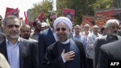 حسن روحانی در راهپیمایی روز قدس