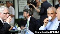 Bivši predsjednik Srbije Boris Tadić i aktuelni Ivo Josipović u Beogradu, juli 2010.