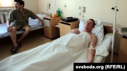 Віктар Цярэшчанка падчас знаходжаньня ў шпіталі