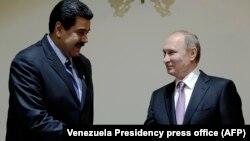 Одна з попередніх зустрічей президентів Росії Володимира Путіна (п) та Венесуели Ніколаса Мадуро, Тегеран, Іран, листопад 2015 року