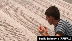 Izudin Alic visits the Srebrenica Genocide Memorial in the town of Potocari