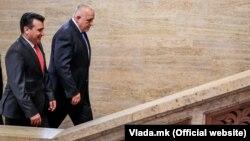 Архивска фотографија- премиерите Зоран Заев и Бојко Борисов во февруари 2019 година
