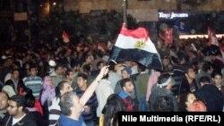 محتجون مصريون ضد الإعلان الدستوري