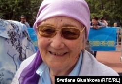 Пенсионерка Балхия Алибаева.