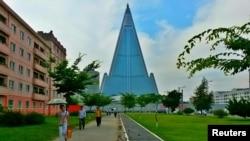 105-этажный отель в Пхеньяне, 4 июля 2015 года.