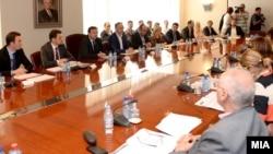Работен состанок на Владата на Македонија.