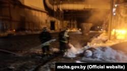 Пажар у цэху БМЗ у Жлобіне