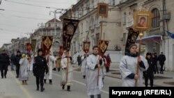 Рождественский крестный ход в Севастополе. 7 января 2020 года