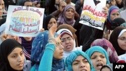 Žene na prosvjedima u Kairu, 1. veljače 2011