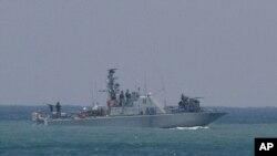 کشتی نظامی اسرائیلی در بندر اشدود