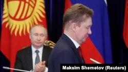 Президент РФ В.Путин и глава Газпрома А. Миллер