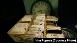 Ауруханадағы ішімдікке тәуелді адамдардың каталогы. Беларусь, Светлогорск, 22 қазан 2008 жыл.