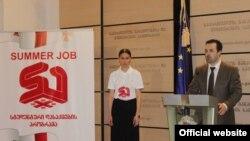 განათლების მინისტრი დიმიტრი შაშკინი სტუდენტთა საზაფხულო დასაქმების ახალი პროგრამის პრეზენტაციაზე