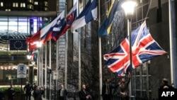 Եվրախորհրդարանի շենքից հեռացնում են Մեծ Բրիտանիայի դրոշը, Բրյուսել, 31 հունվարի,