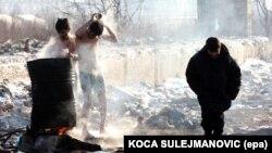 Migranti u Beogradu na minus deset stupnjeva, januar 2017.