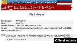 Decizia Înalței Curți de Casație și Justiție de la 20 februarie 2014