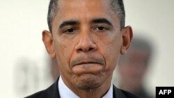 Президент США Барак Обама выступает на заседании правительства по поводу последствий урагана «Сэнди». Вашингтон, 30 октября 2012 года.