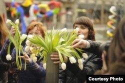 Париж. Площадь Стравинского. Декабрь 2011 года