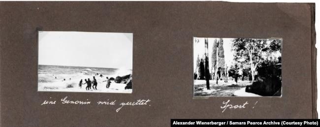 Фото Александра Вінербергера із його відпочинку в Криму у вересні 1933 року, публікується вперше. Надано власником авторських прав Самарою Пірс