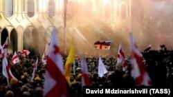Протест оппозиции в Тбилиси