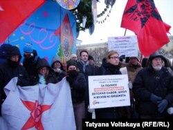 Митинг левой оппозиции в защиту науки и образования в Петербурге. 1 декабря 2013
