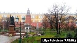 В День народного единства Александровский сад безлюден