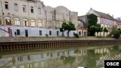 Pamje nga një pjesë e qytetit Zrenjanin në Serbi